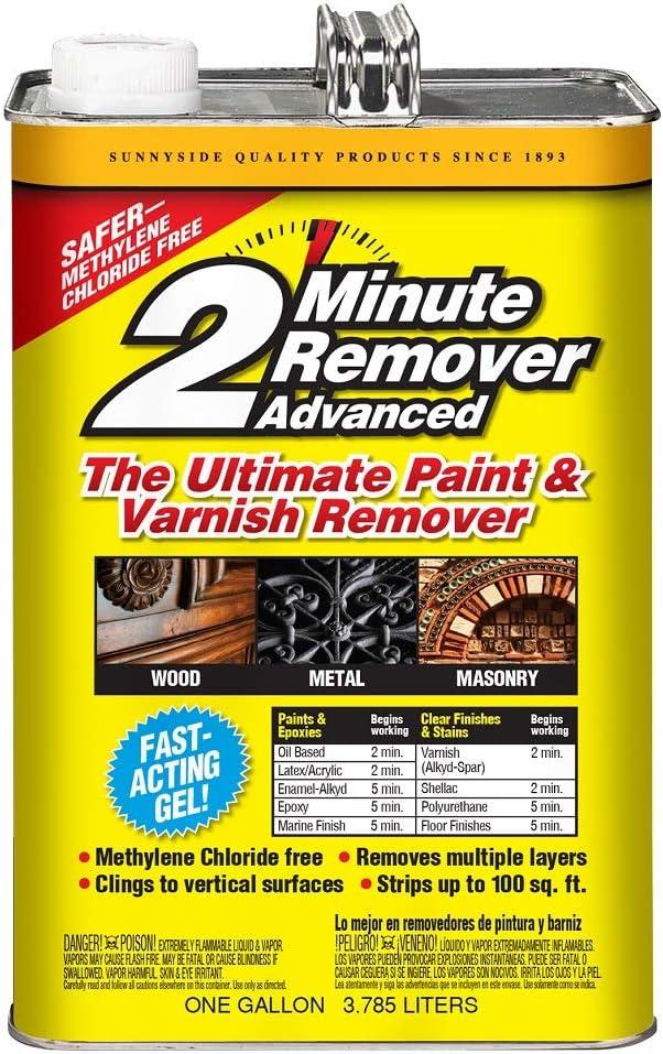 Sunnyside 634G1 2-Minute Remover Advanced Paint & Varnish Remover Gel, Gallon, 2-Pack