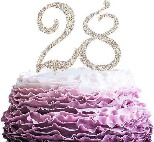 Sensational Lingpar 28 Years Birthday Cake Topper New Best Crystal Personalised Birthday Cards Paralily Jamesorg