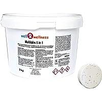 well2wellness Chlor Multitabs 5 in 1 200g mit 96% Aktivchlor - 3,0 kg