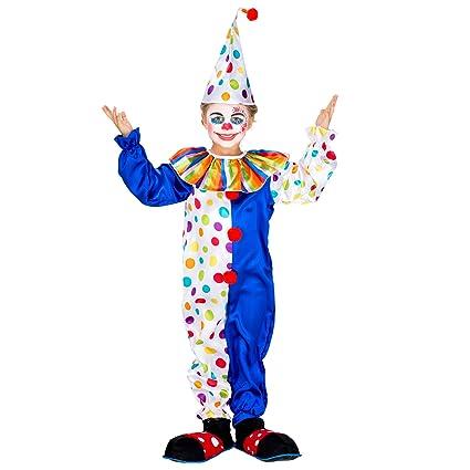 CIRCO CLOWN Bambini Costume Divertente Carnevale Halloween Ragazzi Ragazze Bambino Costume