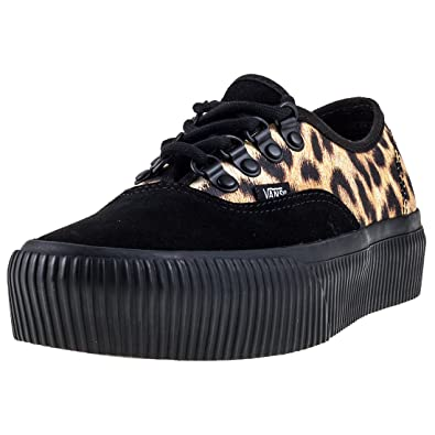 vans authentic platform trainers in leopard print