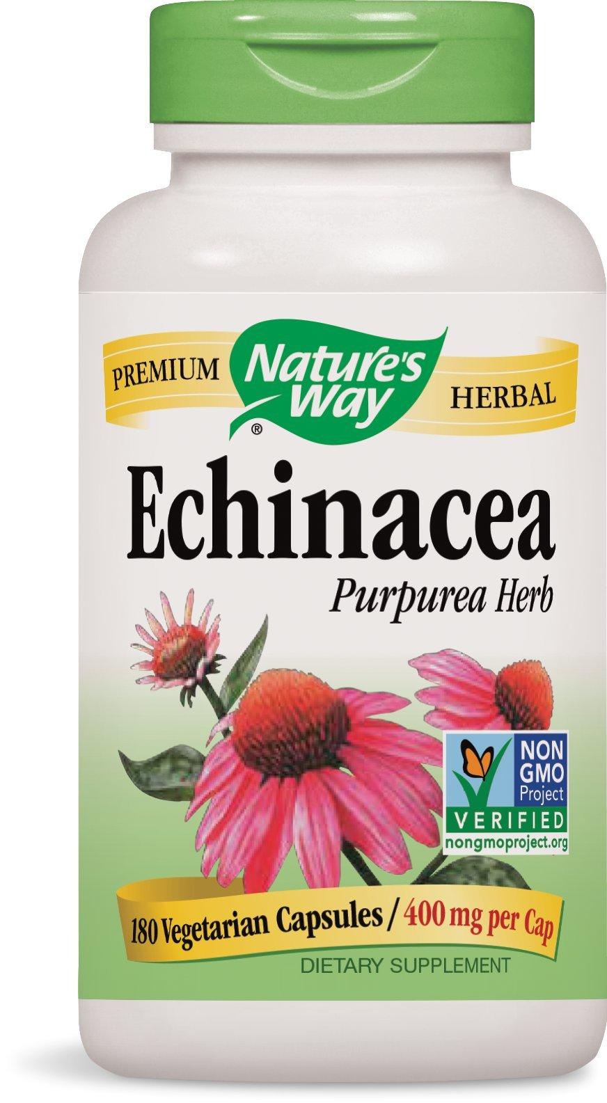 Nature's Way Echinacea Herb, 180 Capsules, 400 mg