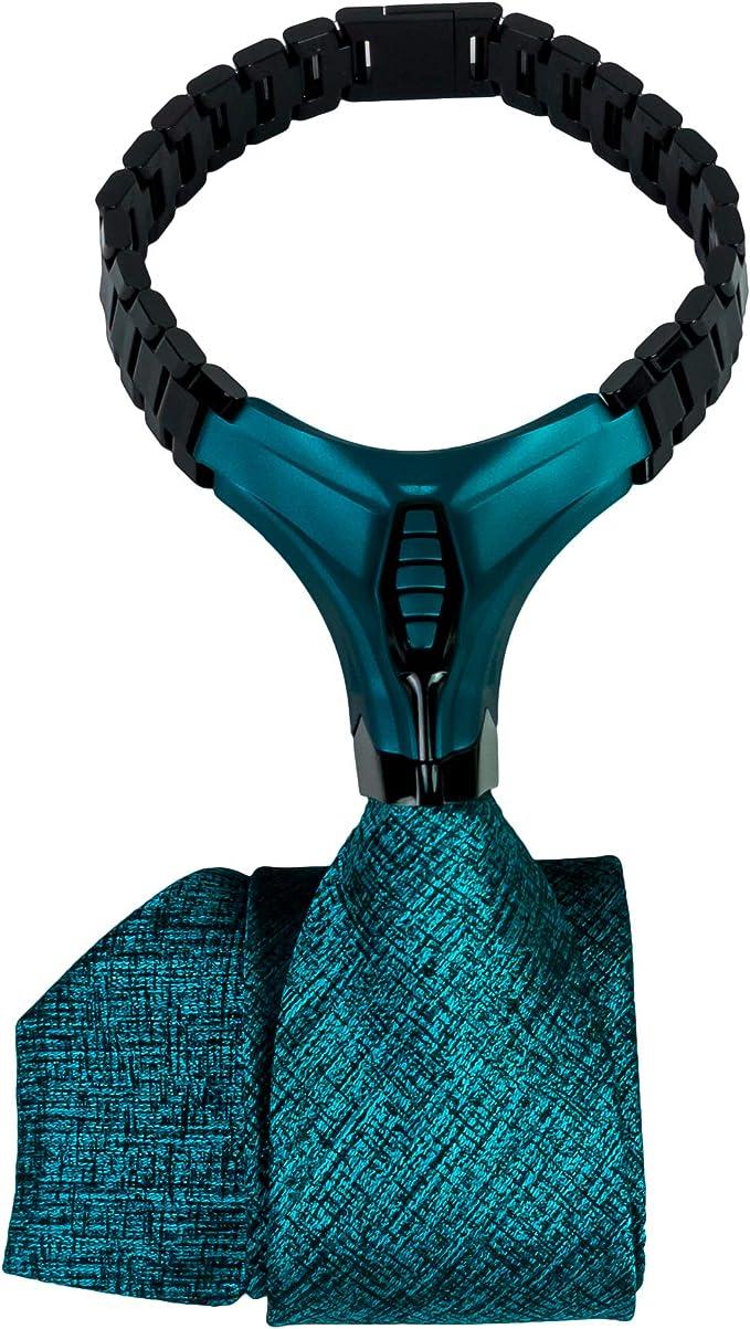 BARBATTIE Corbata de diseño, color negro petróleo, patrón ...