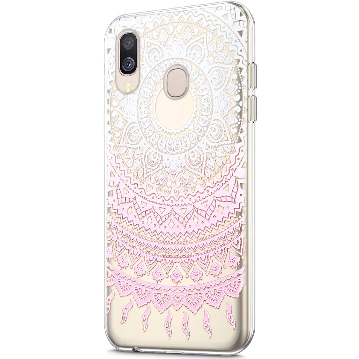QPOLLY Cover Trasparente Compatibile con Samsung Galaxy A40 Custodia in Silicone Gel Morbida Clear Cristallo Colorata Fiori Animali Design Ultra Sottile TPU Gomma Antiurto Protezione Cover,#5