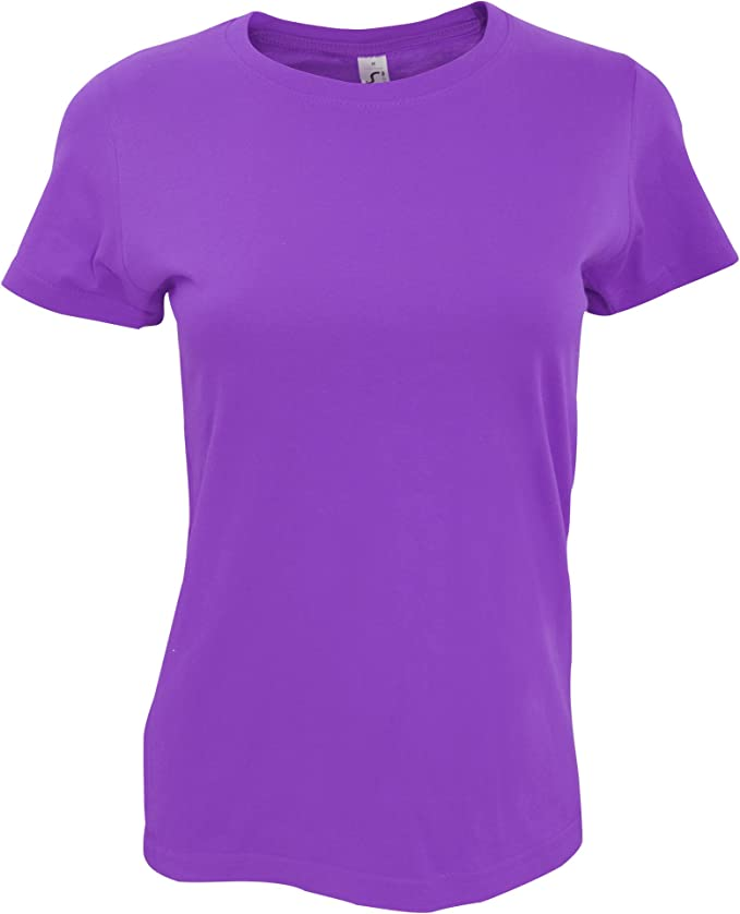 SOLS - Camiseta de Manga Corta Imperial para Mujer (Mediana (M ...