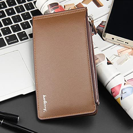 Amazon.com: YJYdada Mens Business Style Leather Card Holder Billfold Purse Long Wallet (Black): Kitchen & Dining