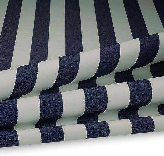 Basic Cojín Acolchado plástico Rayas 5 cm para Muebles de Jardín, Exterior 160 cm de Ancho 240 g/m², Blanco/Azul, 160 cm (B): Amazon.es: Juguetes y juegos