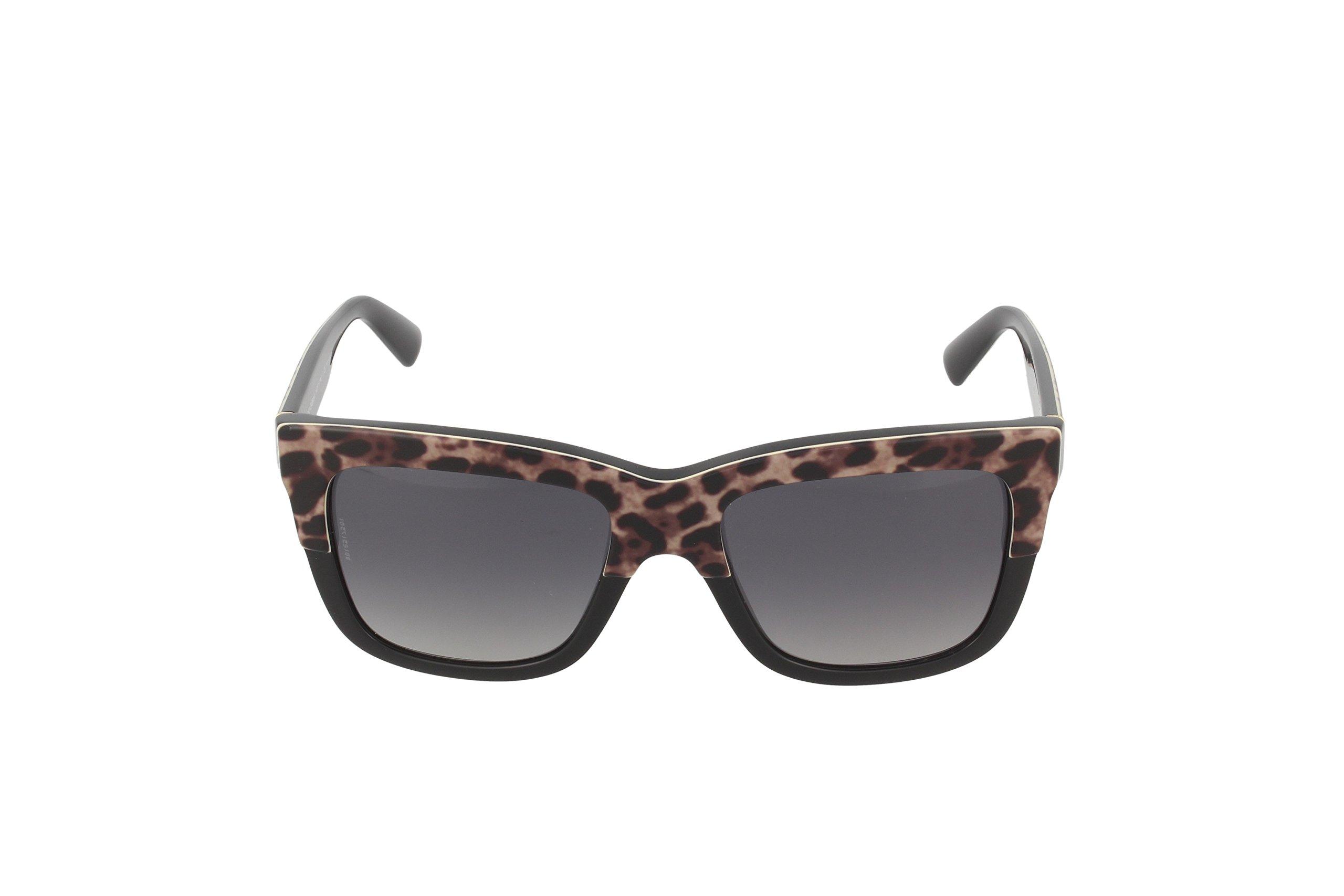 D&G Dolce & Gabbana Womens 0DG4262 Polarized Square Sunglasses, Top Leo On Black, 54 mm by Dolce & Gabbana (Image #2)