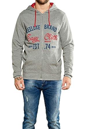 d7f87b5be5bf Deeluxe Sweat Zippé Newsong  Amazon.fr  Vêtements et accessoires