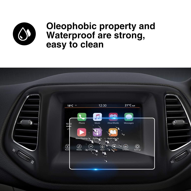 YEE PIN 2018 Jeep Wrangler JL Uconnect 3 5-inch 5 R Angle Navigation Hardened Film Waterproof Navigation Hardened Film HXY