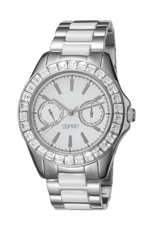Esprit damen armbanduhr dolce vita silver