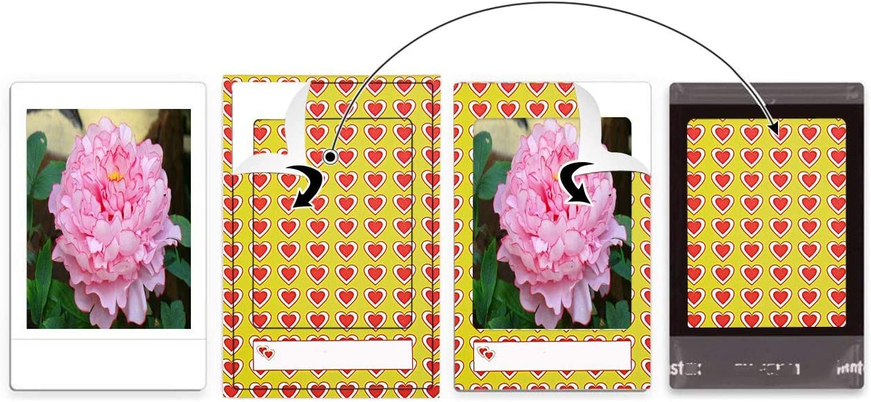 f/ür Fujifilm Instax Mini 9//8// 7s// 70//25// 50s// 90 180 Blatt Sunmns Fotoaufkleber