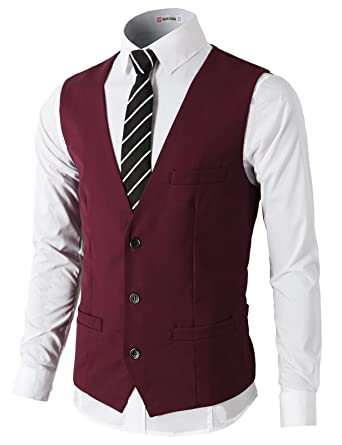 H2H para Hombre Slim Fit Premium Business Vestido Formal ...