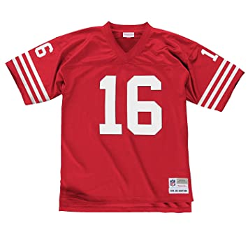 check out 6182d de24e Mitchell & Ness Joe Montana San Francisco 49ers Scarlet Red Throwback Jersey