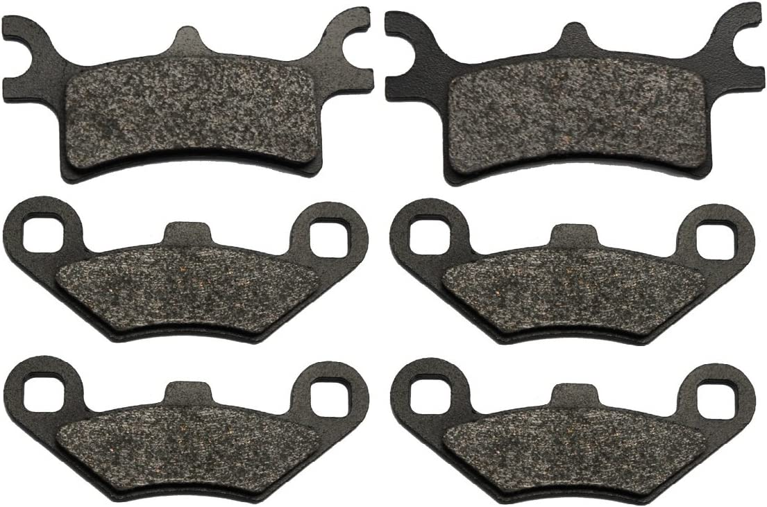FRONT REAR BRAKE PADS POLARIS SPORTSMAN 800 EFI 2005 2006 2007 2008