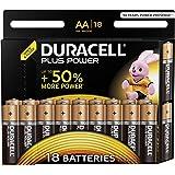 Batterie Alcaline Duracell Plus Power AA, confezione da 18