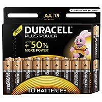Duracell Plus Power Batterie Alcaline Stilo AA, confezione da 18