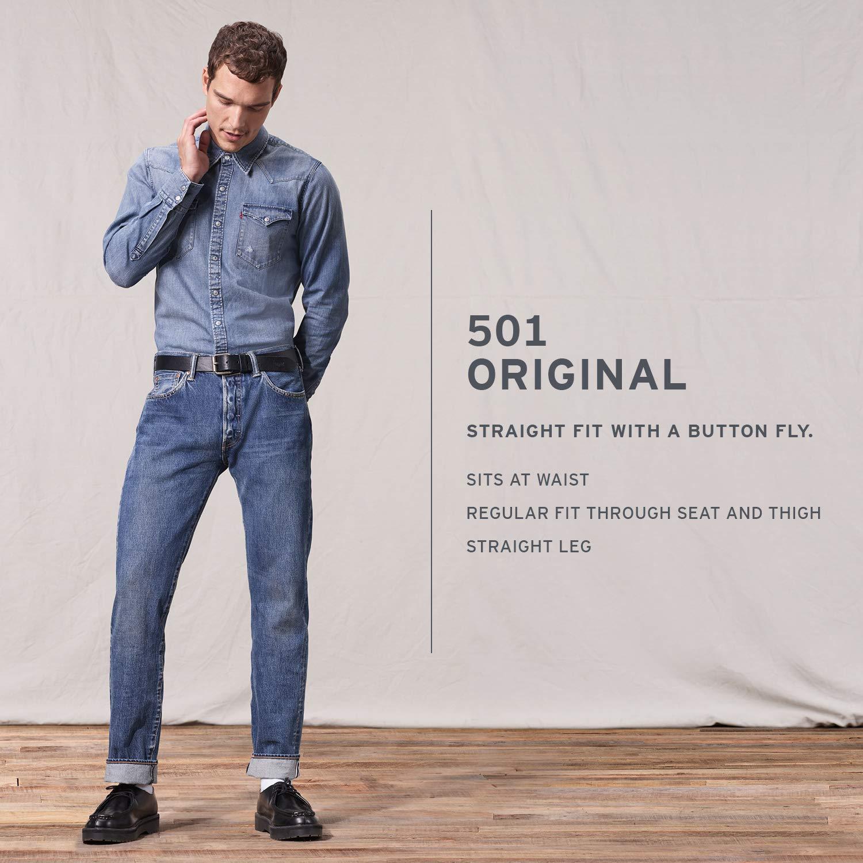 Levi's Men's 501 Original Fit Jean, Dead Oak 33W x 32L by Levi's (Image #3)