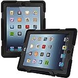 kwmobile Hybrid Schutz Hülle für Apple iPad 2/3/4 - Dual Gummi Kunststoff Tablet Cover in Schwarz