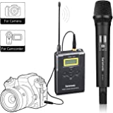 Wireless Handheld Microphone for Camera,Saramonic Uwmic15A UHF Interview Microphone System for Video Recording ,Nikon ,Canon, DSLR,DV Camcorder (3.5mm TRS Jack)