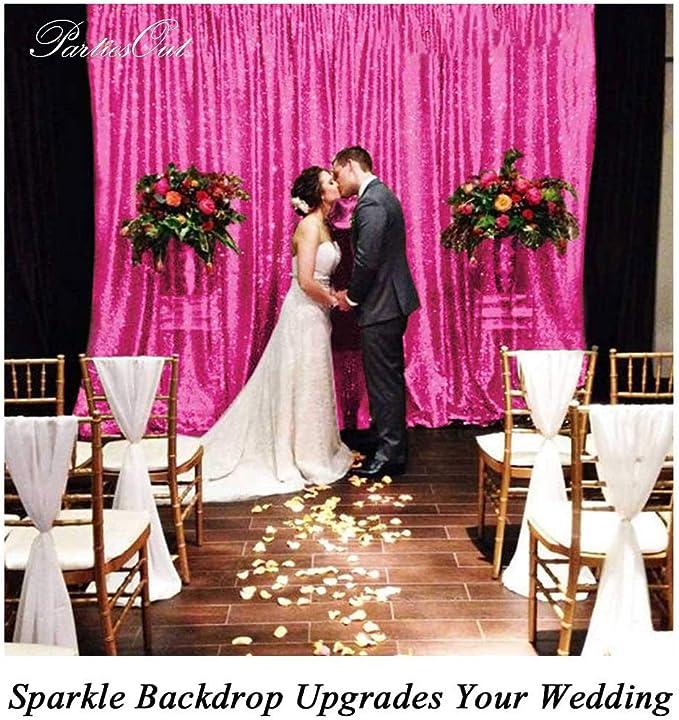 Pailletten Hintergrund Vorhang 2ftx7ft 1pcs Fotografie Hintergründe Pailletten Hochzeit Hintergrund Pailletten Vorhänge Pailletten Schimmer Party Hintergrund Home Decor Pink Küche Haushalt