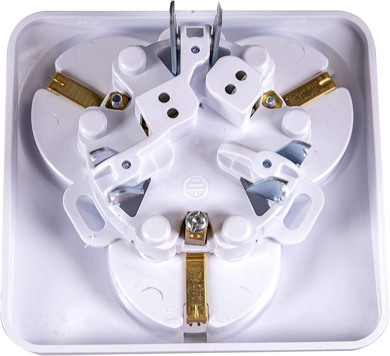 protecci/ón IP20 Toma de corriente con 3 enchufes empotrados