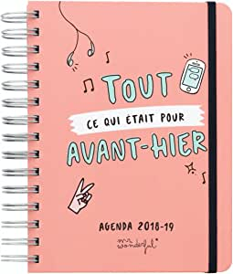 Mr. Wonderful Agenda línea Sketch 2018 - 2019 Todo CE Que