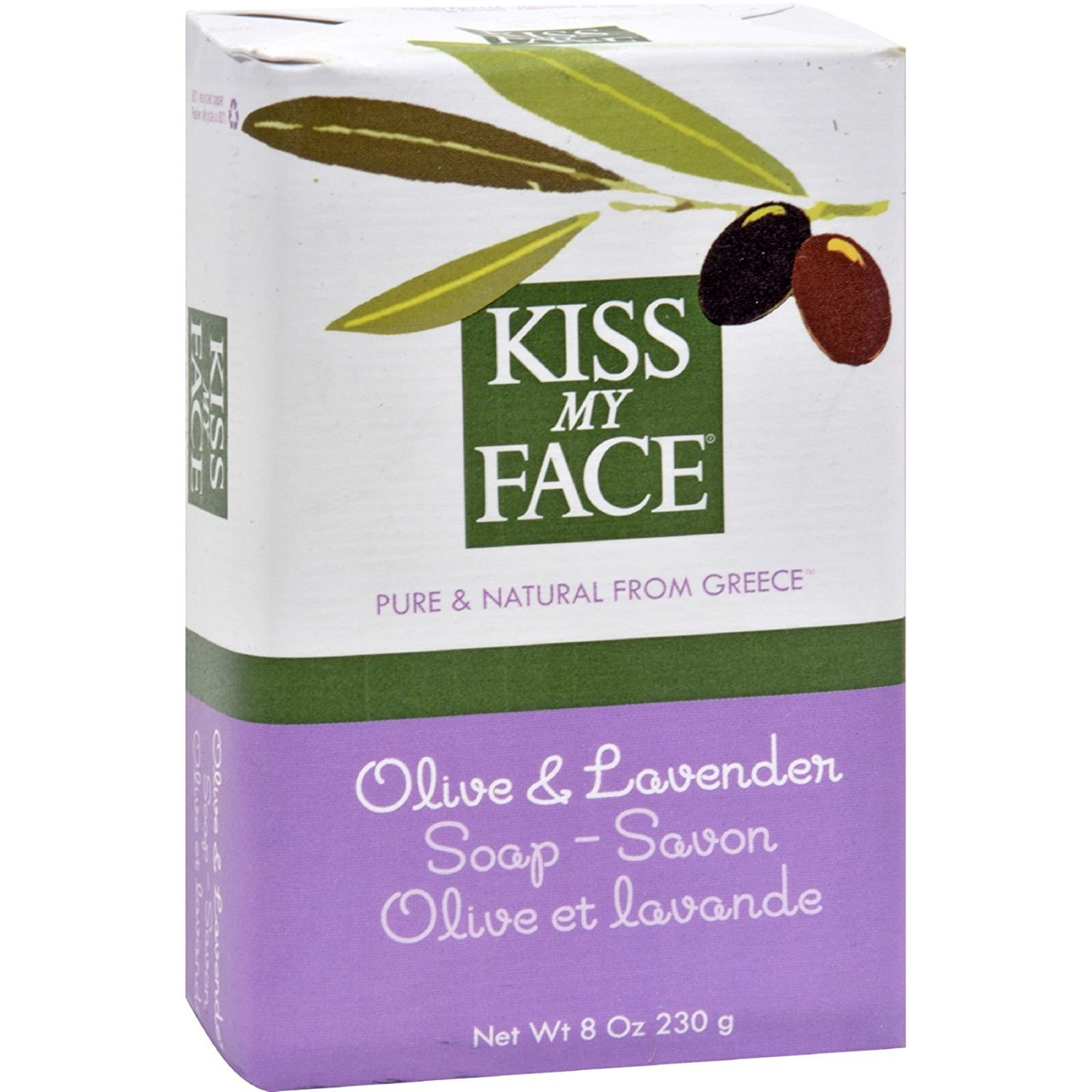 Kiss My Face Olive Oil & Lavender Bar Soap 8 oz (Pack of 5)