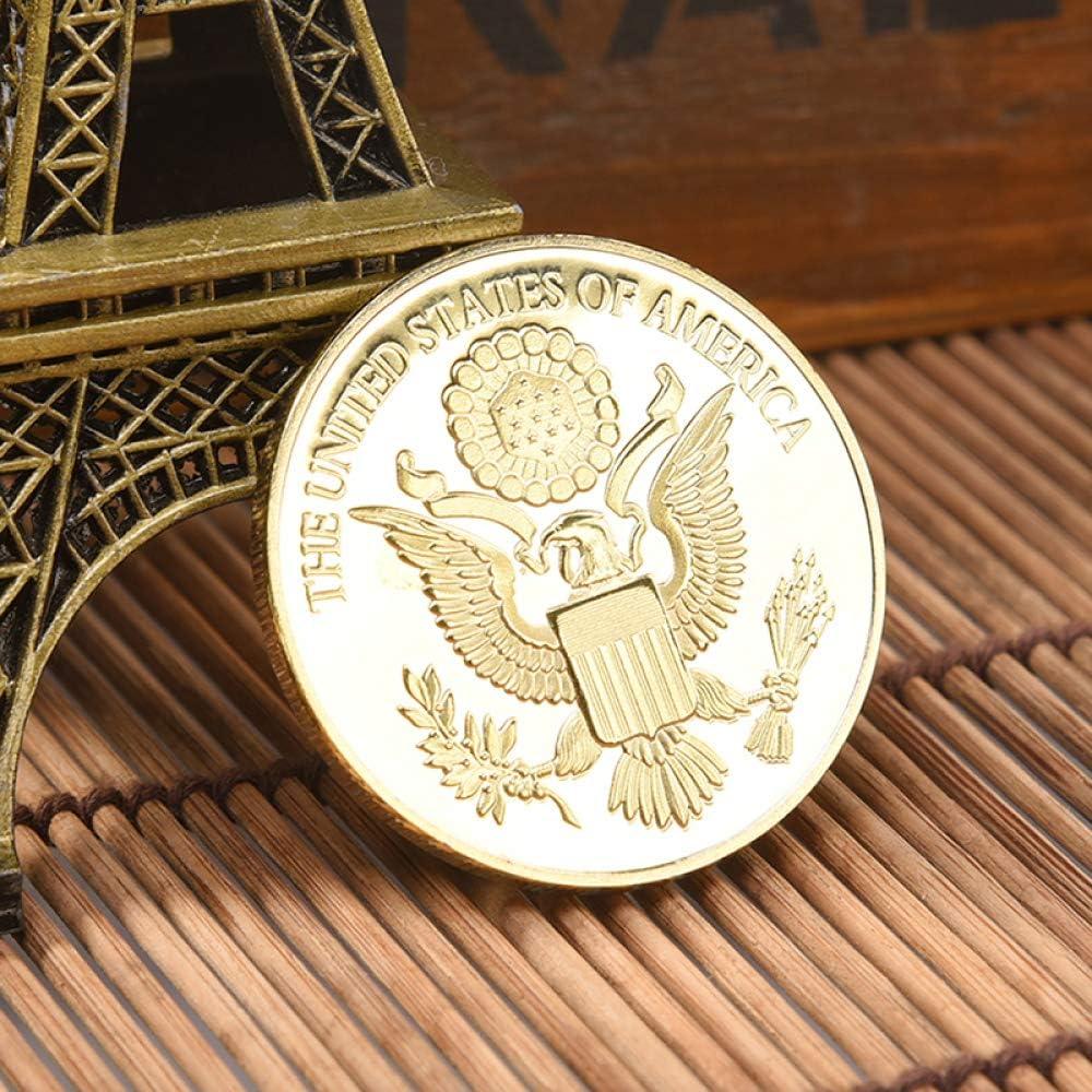 2Pcs /États-Unis,Oiseau National,Aigle /À T/ête Blanche,Des Pi/èces De Monnaie,Or,Embl/ème,Beau,De Haute Qualit/é,Des Illustrations,Soulagement,Collection,2Pcs Cadeau//A