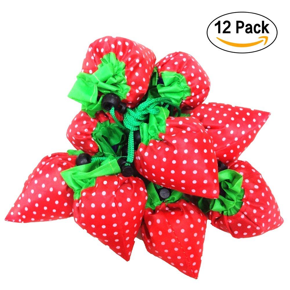 Bolsas de la compra SKL, plegables, con bolsa de hombro, 12 unidades, 4 colores surtidos