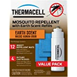 Thermacell E-4 Mosquito Repeller Refill with Earth Scent, 48 Hour Pack (12 Repellent Mats and 4 Butane Cartridges)