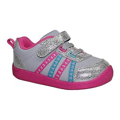 d4b63d80d808 Garanimals Baby Girls Basic Athletic Shoe Grey Pink ...