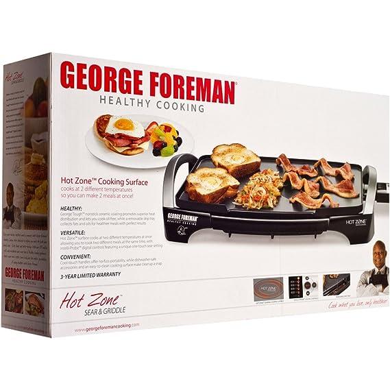 George Foreman GR0215G - Parrilla antiadherente eléctrica ...