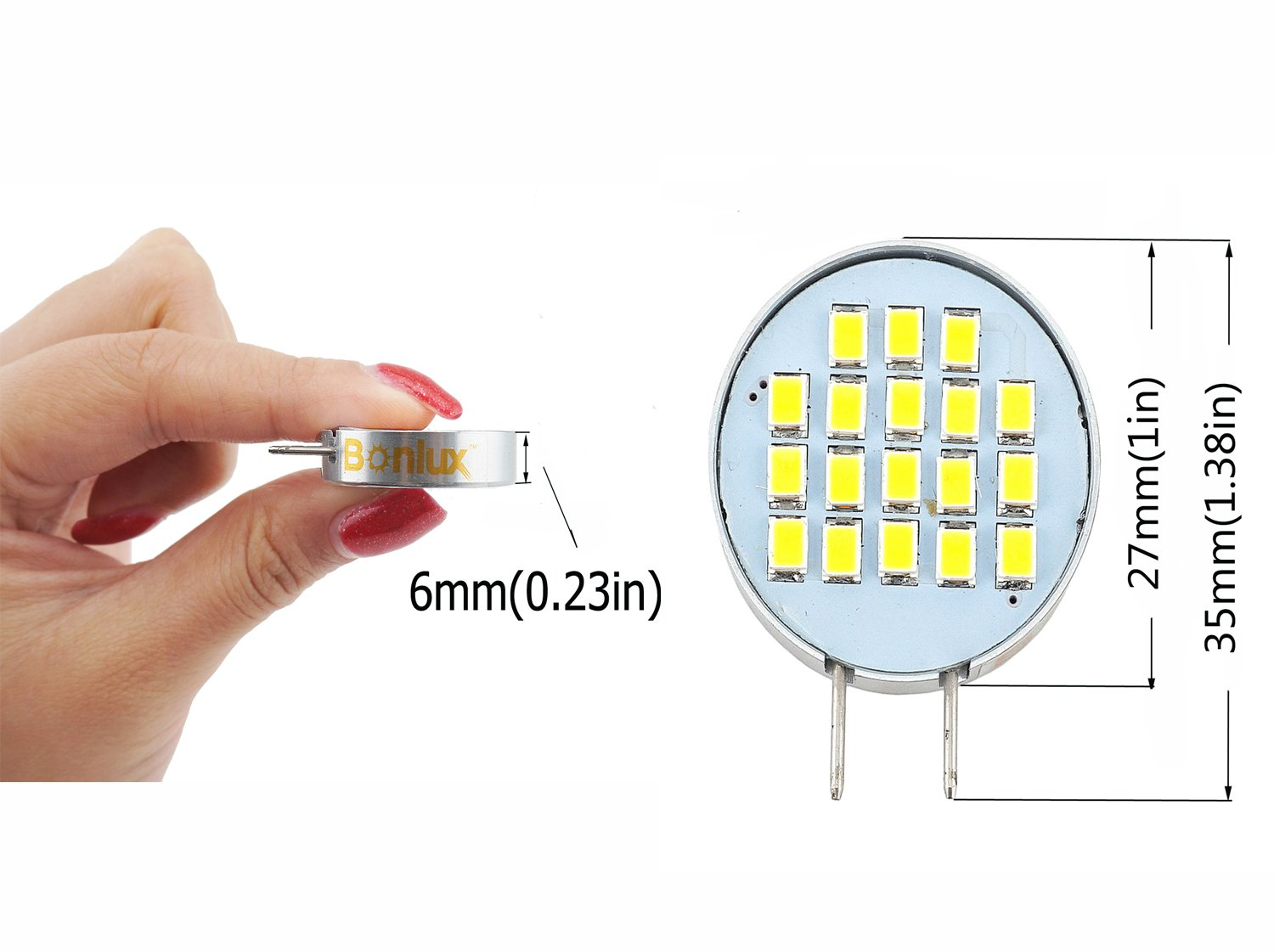 Bonlux dimmable led g8 bi pin base bulb daylight 35 watts 30 bonlux dimmable led g8 bi pin base bulb daylight 35 watts 30 watts halogen replacement under cabinet led light for counter kitchen lighting 4 mozeypictures Gallery