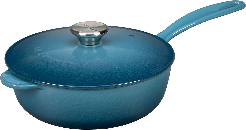 Le Creuset Enameled Cast-Iron 3-Quart Saucier Pan, Marine