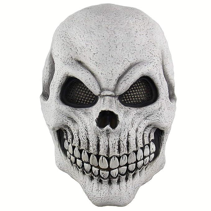 BESTOYARD Máscara de Cosplay de Halloween Máscara de Cabeza de Esqueleto de Halloween Disfraces de Halloween