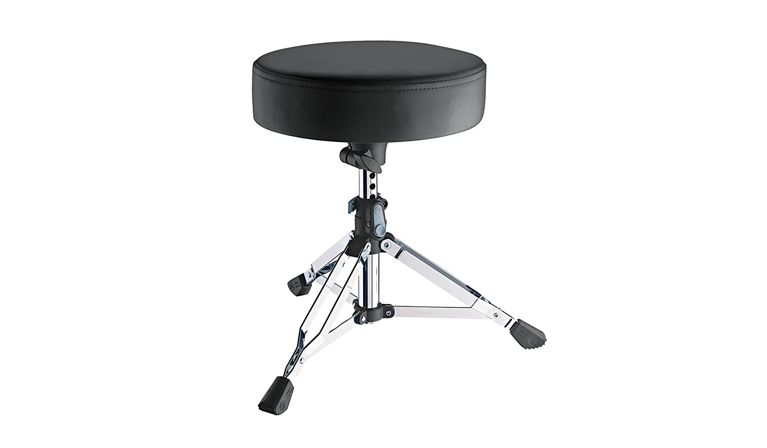 K&M Stands 14010-Chrome Double Braced Drum Throne Push-Button Height Adjustment 14010.000.02