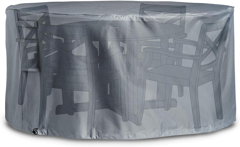 VonHaus Cubierta Industrial para Set de Mesa y Sillas de Jardín Premium- 'The Storm Collection' – Gris Pizarra
