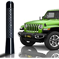 "CK FORMULA 3.1"" Black SUV Antenna - Carbon Fiber Screw Type Automotive Antenna Replacement, AM/FM Radio Compatibility…"
