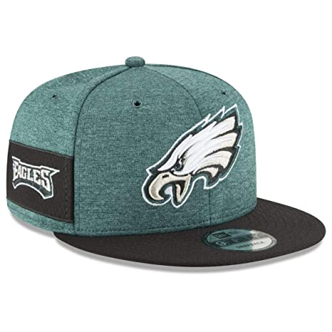 b932ce542 Amazon.com  New Era Philadelphia Eagles 2018 NFL Sideline Home Official 9FIFTY  Snapback Hat Green Black  Sports   Outdoors