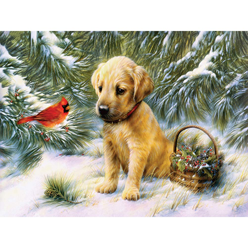 HUPLUE 5D Full Diamond Painting DIY Diamond Embroidery Rhinestone Animals Pattern Cross Stitch Kits Picture Decor