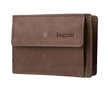 Bugatti Geldbörse Volo für Ticket, 10 cm, braun