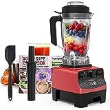 homgeek Countertop Smoothie Blender 1450W, High Speed Blender for Kitchen with 4 Blending Preset Programs, 8 Adjustable Speed