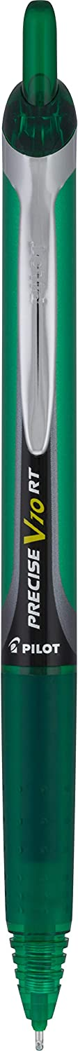 PILOT Precise V10 RT Refillable /& Retractable Rolling Ball Pens Bold Point 12-Pack 13462 Green Ink