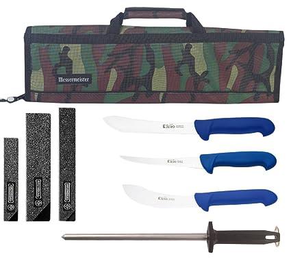 Amazon.com: P3 Cutlery Jero marca carnicero cuchillo Set con ...