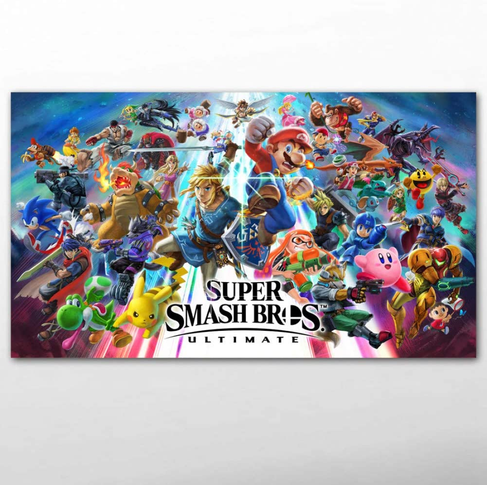 QAZEDC Pintura Decorativa Canvas Posters and Prints Video Game Super Smash Bros. Ultimate Wallpaper Wall Art Paintings for Living Room Decor 60x80cm: Amazon.es: Hogar