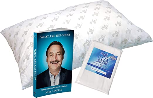 Amazon Com Mypillow Standard Pillow With Pillowcase And Book Bundle What Are The Odds By Mike Lindell Kitchen Dining