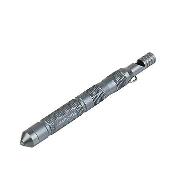 LMF überlebenstool con silbato, rompecristales, pedernal de Aluminum - Kubotan/amplificador en diseños diferentes de colores de impresión de amathings, ...