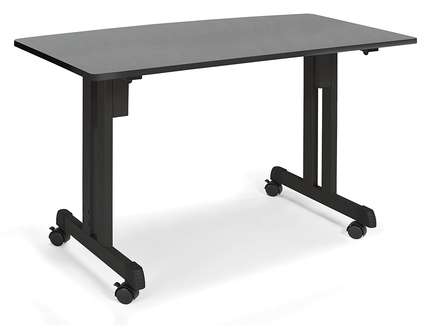 Amazon.com: OFM 55111 GRPH Multiuse Table Graphite With Black Frame, 24 By  48 Inch: Kitchen U0026 Dining