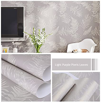 Nice Houzz Modern Wallpaper, Light Purple Pteris Leaves Wallpapers, Elegant  Home Décor Lilac Plant